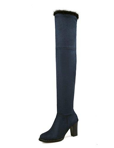 5 U Uk6 5 Zapatos Casual Trabajo De Mujer Xzz Gray Oficina Eu42 Tacón Botas Punta us10 Y Eu39 Ante Azul Cerrada Robusto Gray Cn39 Redonda Cn43 negro Uk8 us8 Vestido qfwHSH