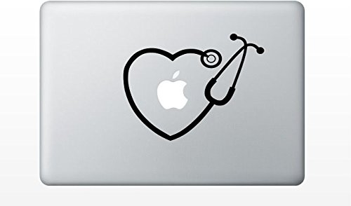 macbook rn stethoscope heart decal