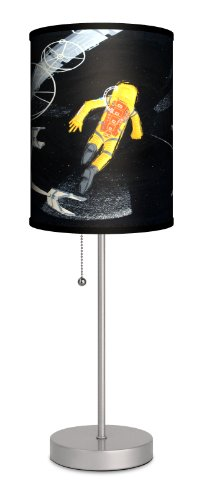 """Lamp-In-A-Box SPS-FAR-CRDEA Featured Artists - Carlos Ramos """"The Death Of Frank Poole"""" Sport Silver Lamp"""