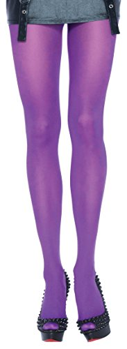 ToBeInStyle Women's Sheer Nylon Tights - Purple - One (Green And Purple Striped Tights)