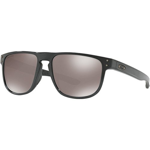 Oakley Men's OO9377 Holbrook R Square Sunglasses, Scenic Grey/Prizm Black Polarized, 55 mm (Oakley Holbrook Black Polarized)