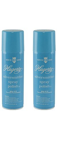 Hagerty Silversmiths Aerosol Spray Polish, Unscented 8.5 Oz (Pack of 2)