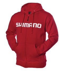 SHIMANO Orion Zip Front Hoody - Red - 3XL (Shimano Fishing Shirts For Men)