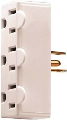 Tap 3outlet Gnd 2p Plastic,3watts, White ()