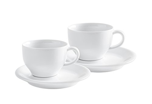 KAHLA Cafe Sommelier Cappuccino International, White Color,  Set of 4 Pieces