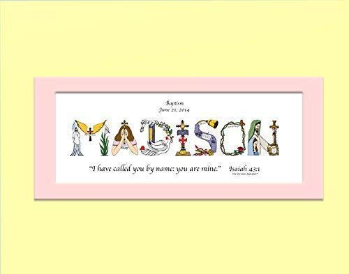 Baptism Gifts for girls or boys - Personalized Christian Gifts from the Christian Alphabet™ - Baptism gift ideas for baby girl or baby boy - 10x20 matted ...  sc 1 st  Amazon.com & Amazon.com: Baptism Gifts for girls or boys - Personalized Christian ...