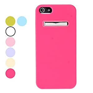 Special Design Soft Case with Stand for iPhone 5/5S (Assorted Colors) , Blue