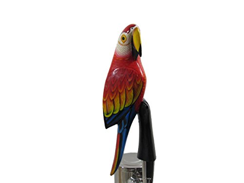 - Wooden Red Parrot Beer Tap Handle Sports Bar Kegerator Breweriana Tiki