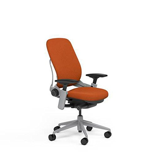 Steelcase Leap Desk Chair in Buzz2 Pumpkin Orange Fabric - H