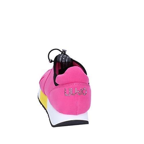 Jo Liu Noir Fuchsia Fuchsia Tecno Sneaker May Tissu Femme dqHRZq