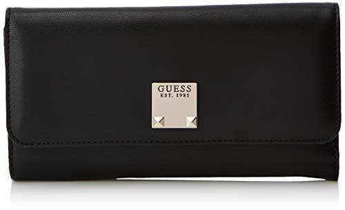 Guess Lenia Slg Pocket Trifold, Women's Wallet, Multicolour (Black), 19x11x1 cm (W x H ()