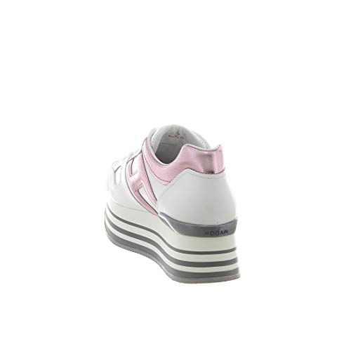 Sneaker Pelle H222 Bianco In Maxi xqFx4TAw