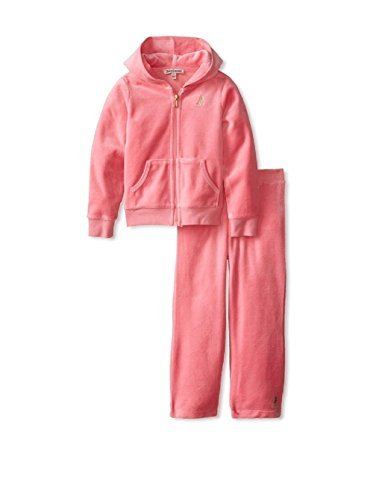 Juicy Couture Pink Tracksuit (Juicy Couture Little Girls' 2 Piece Jogging Set - Pink - (2 Toddler))