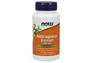 Astragalus Extract 500mg 90 VegiCaps Pack of 2