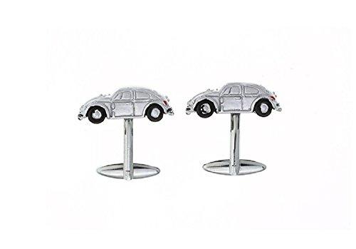 Para hombre Iconic coche escarabajo Gemelos de Camisa con caja de regalo de presentación para boda Negocio: Amazon.es: Joyería