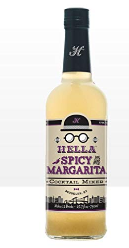 Hella Cocktail Co. | Spicy Margarita Cocktail Mixer, 750 ml | All Natural Spicy Margarita Mixer made with Real Lime Juice & Red Pepper - The Next Best Thing to Fresh Squeezed | Perfect for Holiday