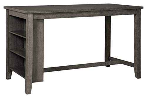 Signature Design by Ashley D388-13 Caitbrook Rectangular Dining Room Counter Table Dark Gray ()
