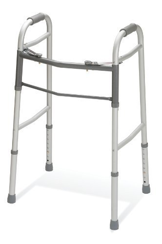 Medline Two-Button Folding Walker Without Wheels by Medline