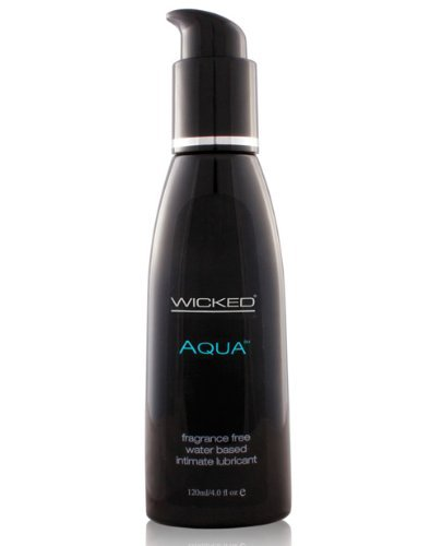 Wicked Sensual Care Collection Fragrance Free Lubricant Aqua Water Based, 4 Ounce