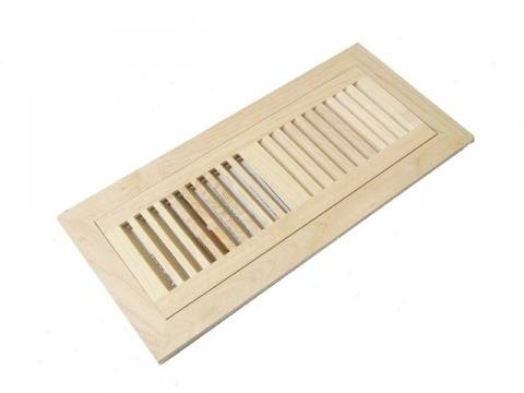 Maple Unfinished Wood Floor Vent Register 4 x 12