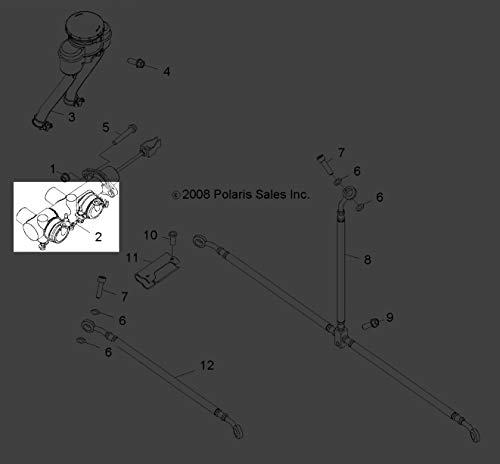 Polaris RZR 170 RZR170 2009-2016 Brake Master Cylinder 0454605 New OEM