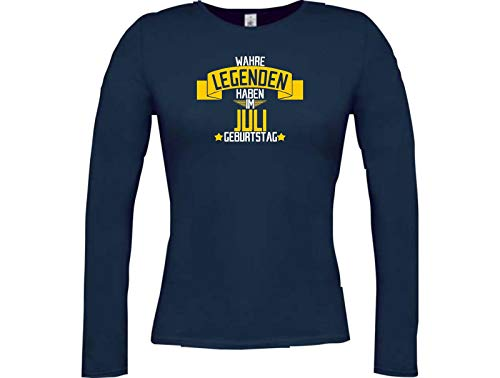 Compleanno Blu Shirtstown Lady Im Wahre Juli Hanno longshirt Legenden 0H80q