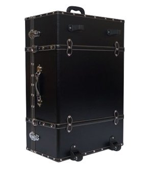 The Designer Wheeled Trunk - Black - Large by DormCo