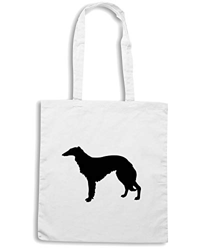 Shopper Borsa EVEN BORZORI SALUSKI CALLED OR BREED THE WES0562 DOG Bianca dqfqwnF1