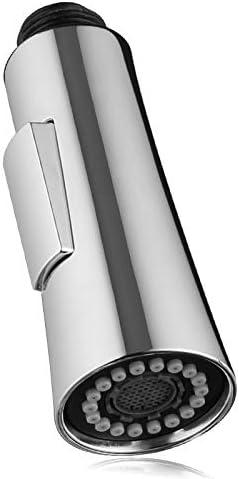 Cromata. GAVAER Ricambio Doccetta per Miscelatore da Bagno,Parte Ricambio per Rubinetto del Bagno 1//2-inch Rubinetto Doccetta Estraibile con Funzioni Dual