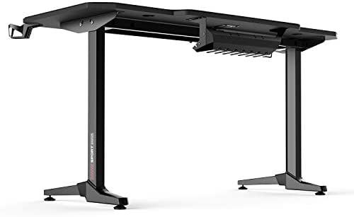 AuAg 55″ Enhanced Larger Gaming Desk with Free Mouse Pad, Cup Holder Headphone & Speaker Hook, Powerful Cabling Management Home Office Computer PC Streamer Desk 31L5YgHi 2BYL
