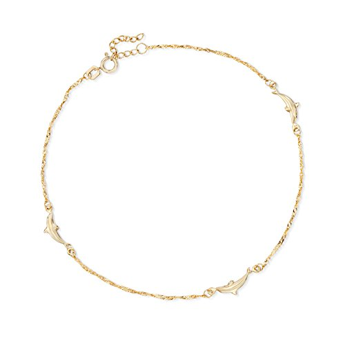 Ross-Simons 14kt Yellow Gold Dolphin Anklet