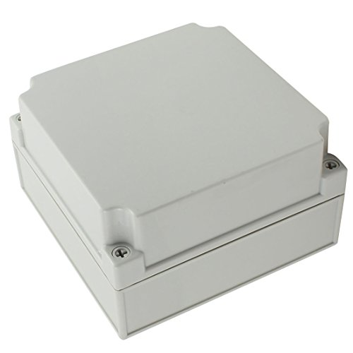 YXQ 175 x 175 x 100mm Electrical Project Case Junction Box IP65 Waterproof ABS DIY Power Outdoor Enclosure Gray (6.9 x 6.9 x 4 inches)