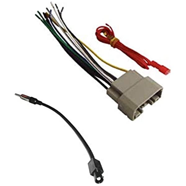 amazon.com: asc audio car stereo wire harness and antenna adapter to  install an aftermarket radio for some dodge chrysler jeep vehicles-  compatible vehicles listed below: car electronics  amazon.com