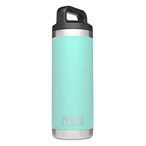 Yeti Rambler 18Oz Vacuum Insulated Stainless Steel Bottle With Cap  Seafoam Duracoat