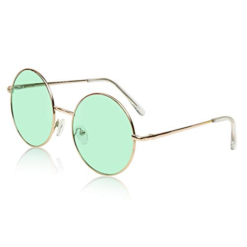 Sunny Pro Lightweight Circle Sunglasses For Women Hipster Fashion Glasses ()