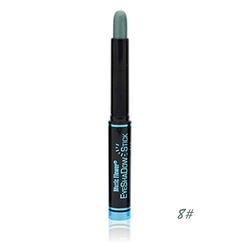 12 Colors Waterproof Smoky Eyeshadow Pen Stick Eye Camouflage Makeup Cream Metallic Eye Shadow Palette Liner Pencil Cosmetics 08 ()