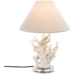 Nautical Themed Coral Mood Desk Lamp Shade Craftsman Table Lighting Contemporary Replacement Modern Northern Lights Living Room Lantern Bedside Reading Lamps