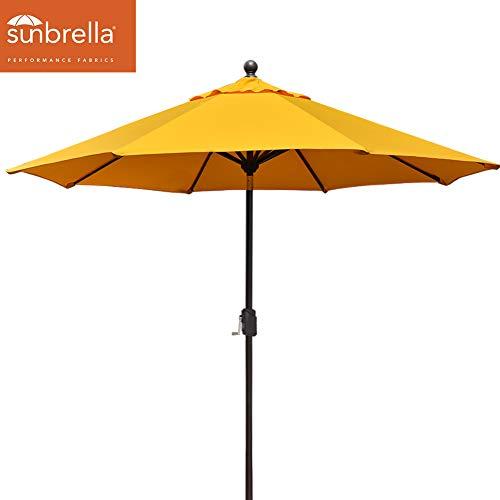 EliteShade Sunbrella 9Ft Market Umbrella Patio Outdoor Table Umbrella with Ventilation (Sunbrella Yellow) ()