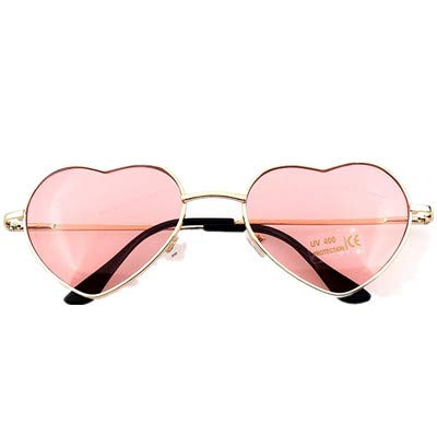 Sun Color Metal Lovely Glasses Women Shaped Woman For Sunglasses Heart Mirror Shades Sunglass Tyjyy Candy Pink Girl Frame wPqYg7c