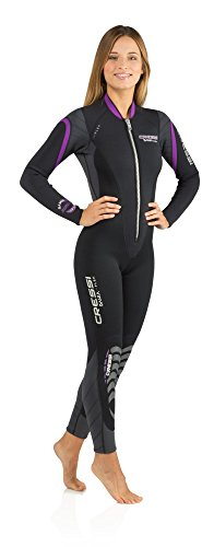 Cressi Bahia Flex 3mm Lady, Black/Lilac, M ()