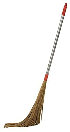 UVA Long Steel Handle Eco Friendly Soft Grass Floor Broom