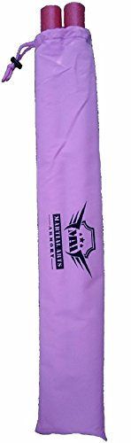 Martial Arts Armory Foam Padded Training Escrima Sticks with Case (Pink)