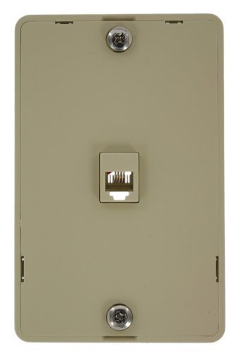 Leviton 40214-I Telephone Wall Jack, 6P4C, Screw Terminal, I