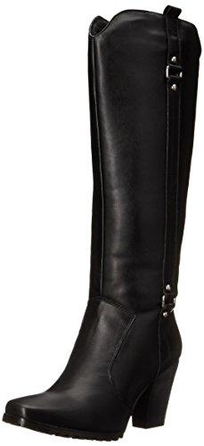 Black Leather Biker Boots Womens - 1
