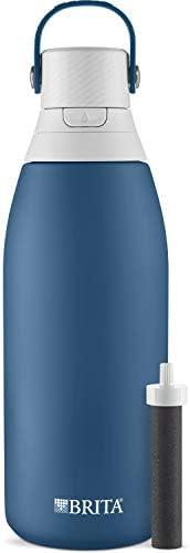 Brita Stainless Steel Water Filter Bottle, 32 Ounce, Marina