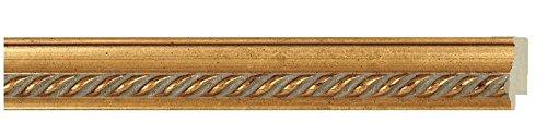 Picture Frame Moulding (Wood) 18ft Bundle - Traditional Antique Gold Finish - 1.375