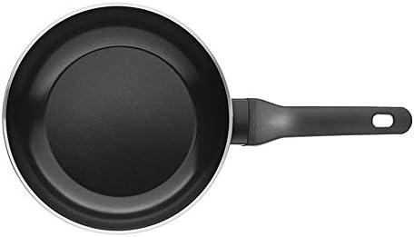 フライパン パンフラットボトム麦飯石ウォックライトウォックガスストーブユニバーサル誘導調理器調理ノンスティックウォックライト (Color : Black, Size : 28cm)