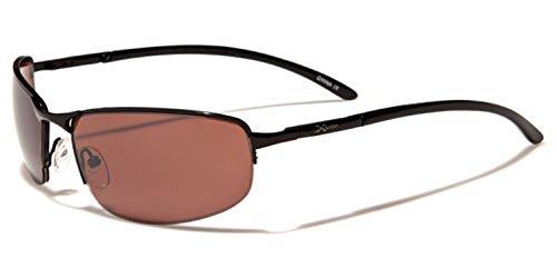 X para Brown ® Black de Gafas ® sol Loop Lens hombre 1Yrq16wan