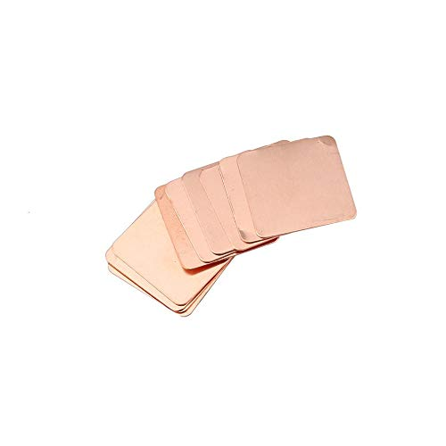 10pcs Pure Copper Heatsink Shim Thermal Pad Barrier for Laptop Graphics Card 20mmx20mm 0.3mm 0.5mm 0.8mm 1.0mm 1.2mm