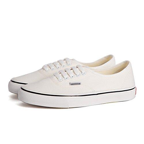 bianca da studente Scarpe scarpe casual WFL bianche maschio scarpe scarpe uomo di scarpe primavera aiutare tela bassa scarpe piatte singole per nIn7pRwx